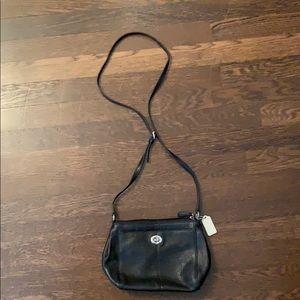 Coach bag with adjustable long shoulder strap